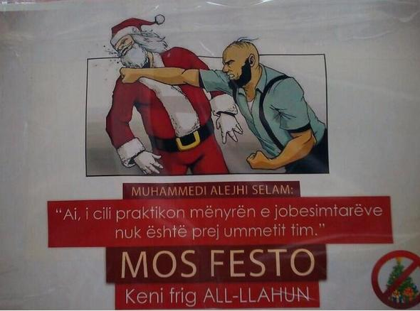 Pamphlets and religious propaganda distributed in Skopje not to celebrate the end of the year holidays