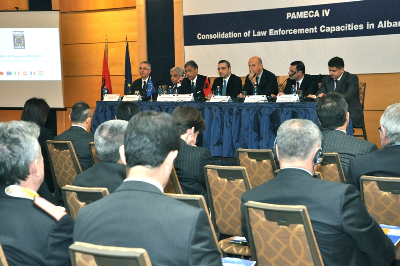 PAMECA-4 project for the Consolidation of the Law Enforcement Capacities in Albania