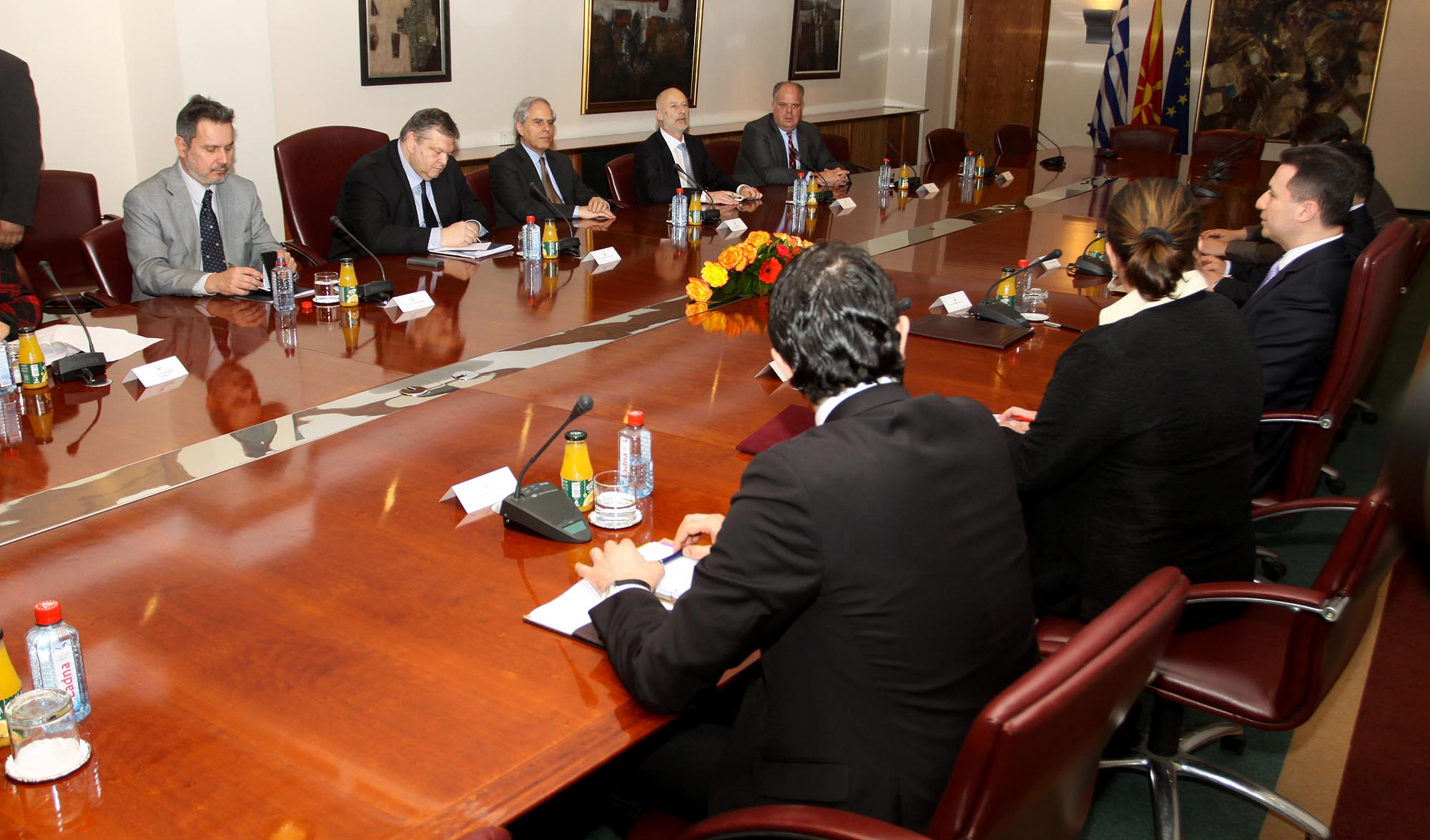 Venizelos: Skopje has a disposition to improve bilateral relations