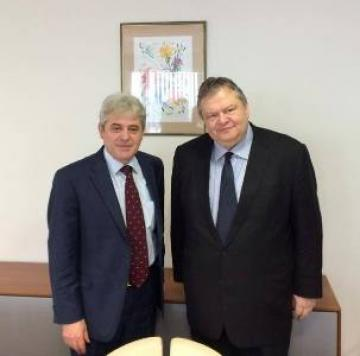 Venizelos meets the leader of opposition and leader of BDI