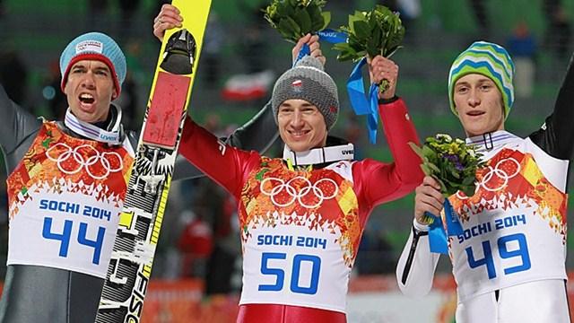 Slovenian Olympic medalists return home