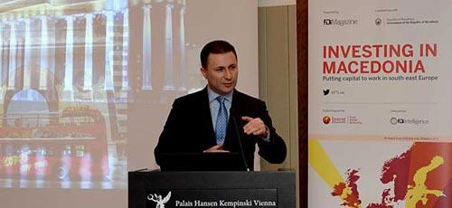Premier Gruevski demands Austria's support for the integration in the EU and NATO