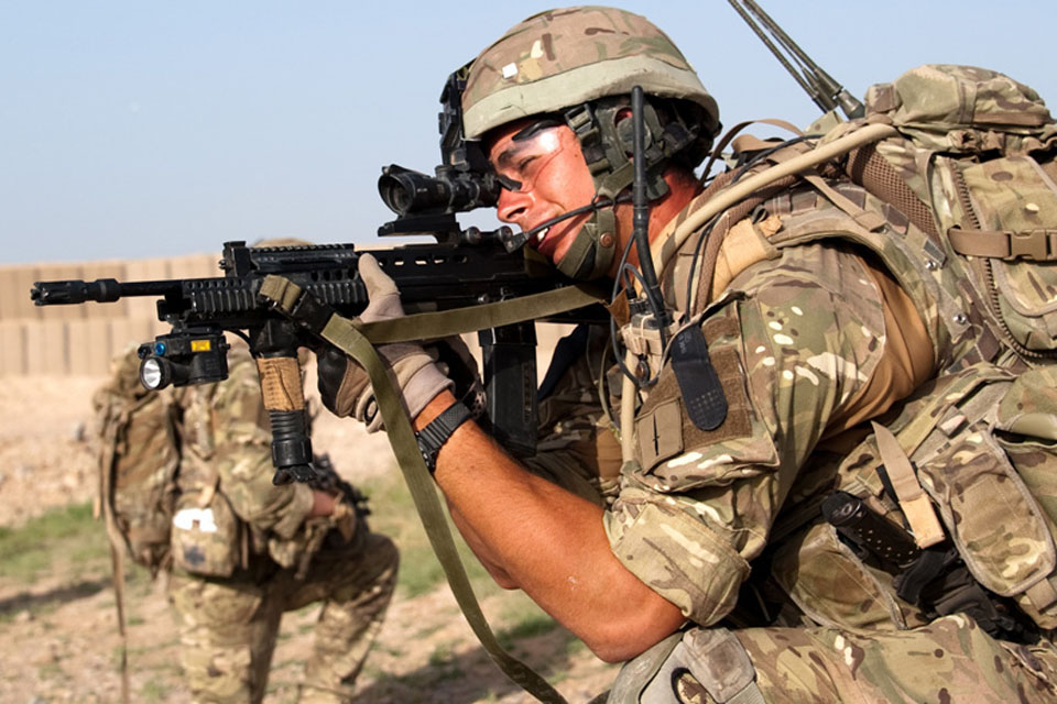 Refugee from Kosovo part of the British Royal Marines