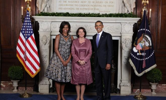President Obama sends a telegram of congratulations to president Jahjaga
