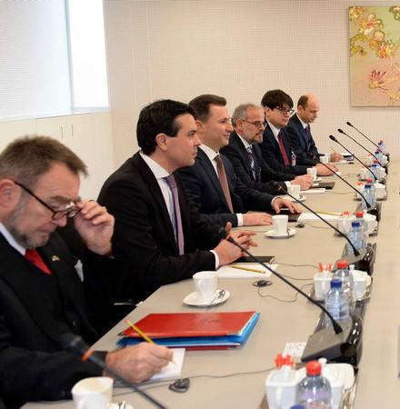 PM Gruevski seeks the backing of NATO ambassadors for accession