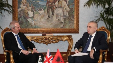 Speaker of parliament receives British Minister of State David Lidington