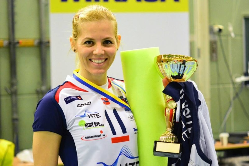 Albanian volleyball player Arjola Prenga is announced Norwegian champion in women's volleyball