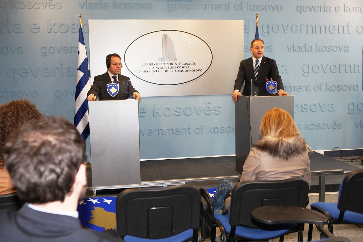 FM Hoxhaj meets the Greek ambassador, he's issued with the first Greek visa valid in the Schengen area