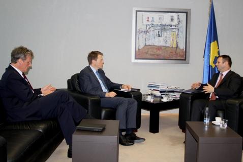 Kuci, Zgobar and Borchardt discuss on EULEX mandate