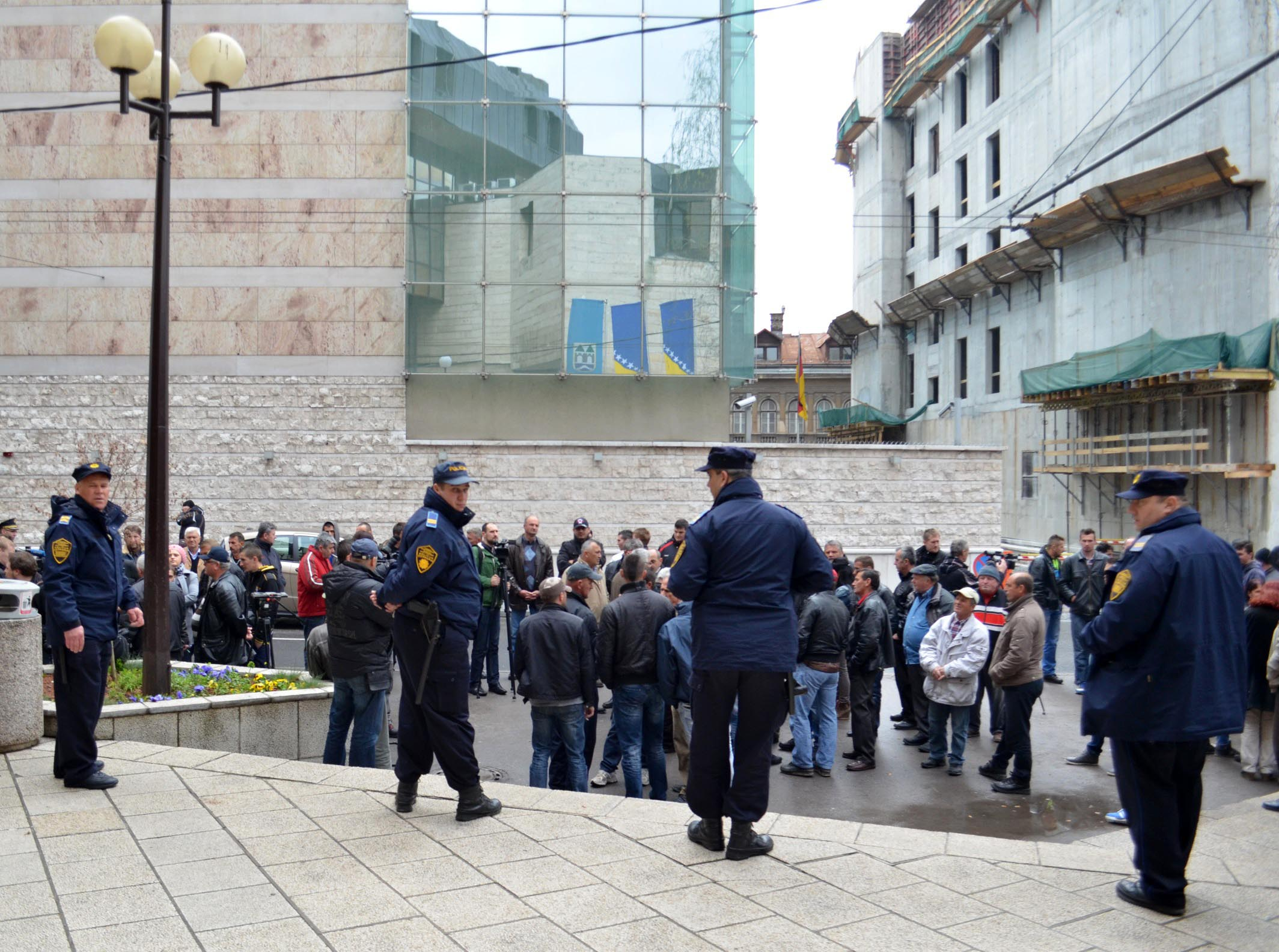 Farmers Protesting in Sarajevo Seeking Payment of Incentives