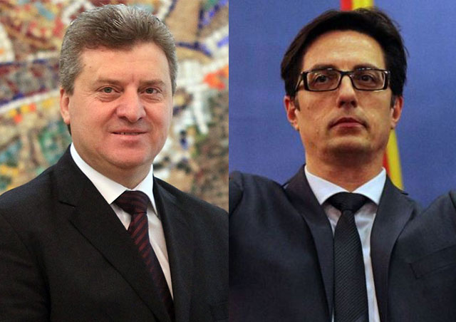 Who are the two favorites in the presidential elections in FYROM and their biggest differences