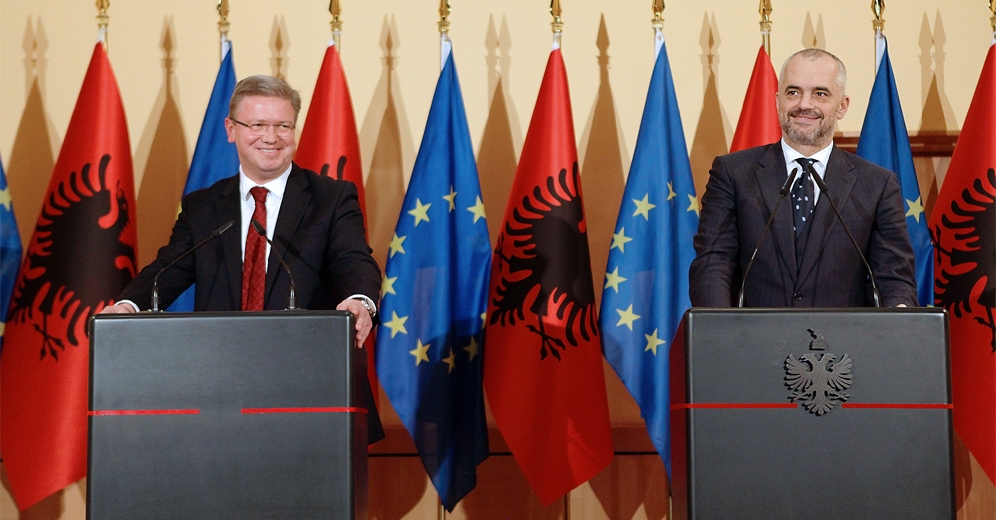 EU says that Albania is in the right path toward the status