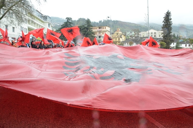 Protests at the Greek consulate in Gjirokaster: Southern Albania, from Preveza to Yoannina