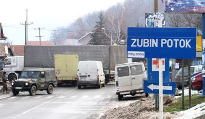 Three Serb police officers wounded in an ambush