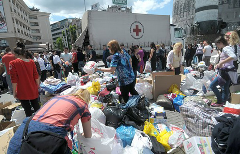 Massive mobilization to help Serbia and Bosnia and Herzegovina