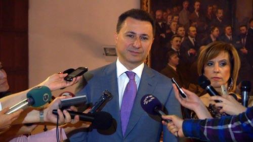 PM Gruevski sustains slight injuries, activities suspended