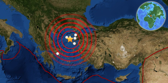Earthquake rattles Greece, Turkey