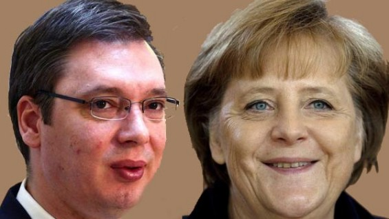 Merkel promises relief for Serbia, Vucic in Berlin in June