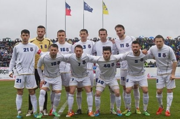 Kosovo's national football squad ready for the friendly match against Turkey