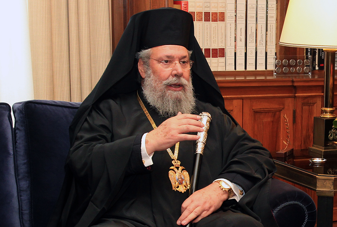 Archbishop of Cyprus visits the UK bearing messages