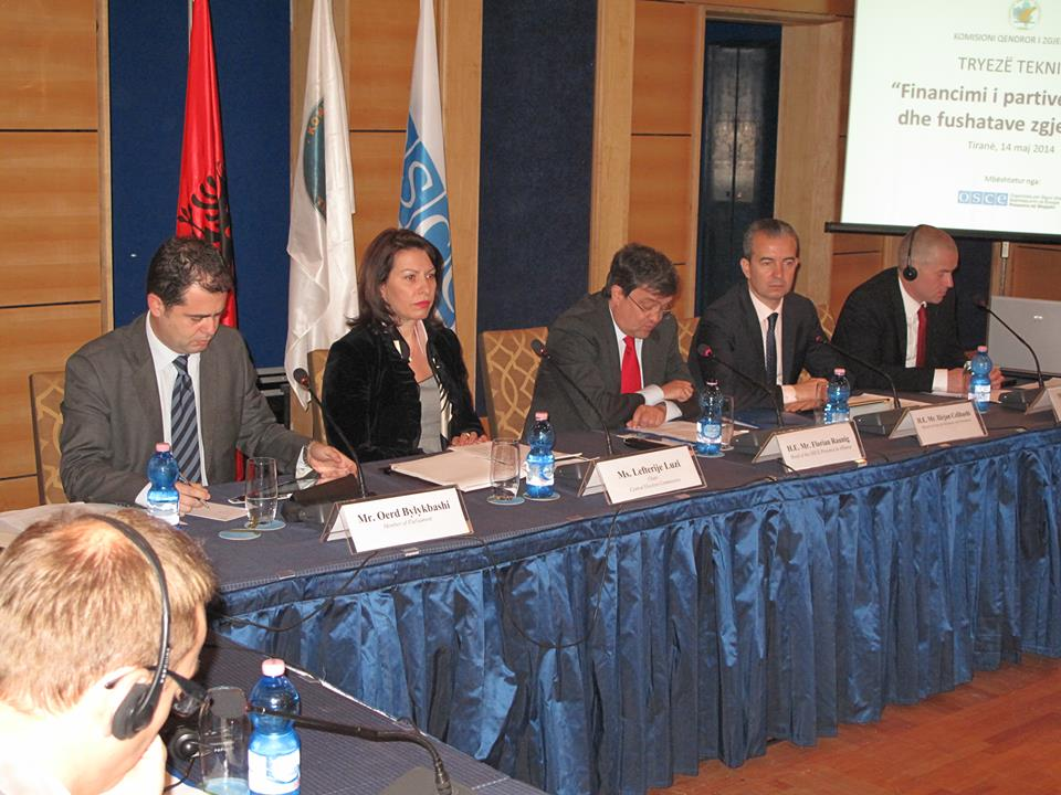 OSCE Presence in Albania and CEC support transparent financing of political parties, electoral campaigns