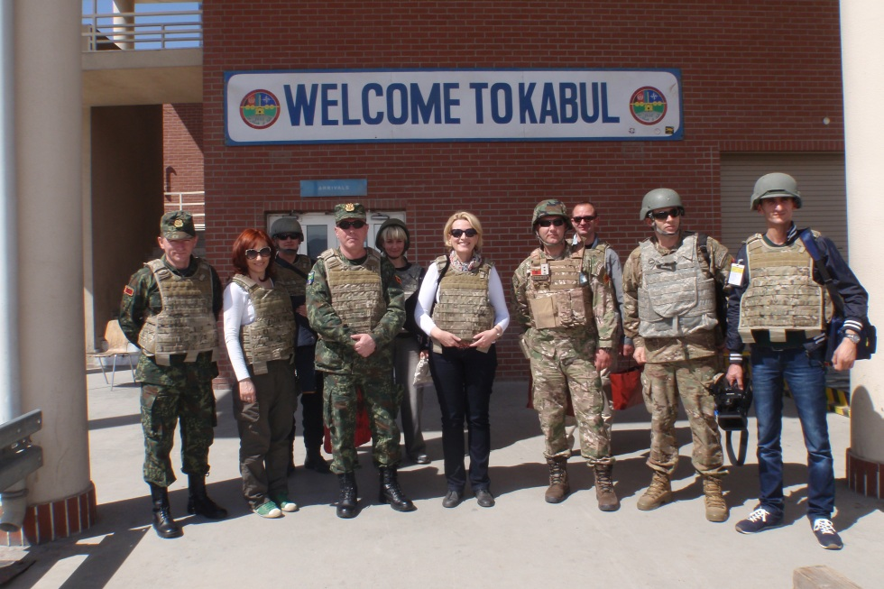 Albanian Minister of Defense holds a 24 hour visit to Afghanistan