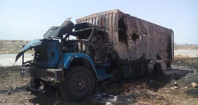 Turkish aid truck was hit in Syria near Aleppo