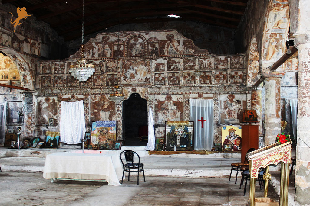 An Orthodox church bearing historical values is damaged in the south of Albania