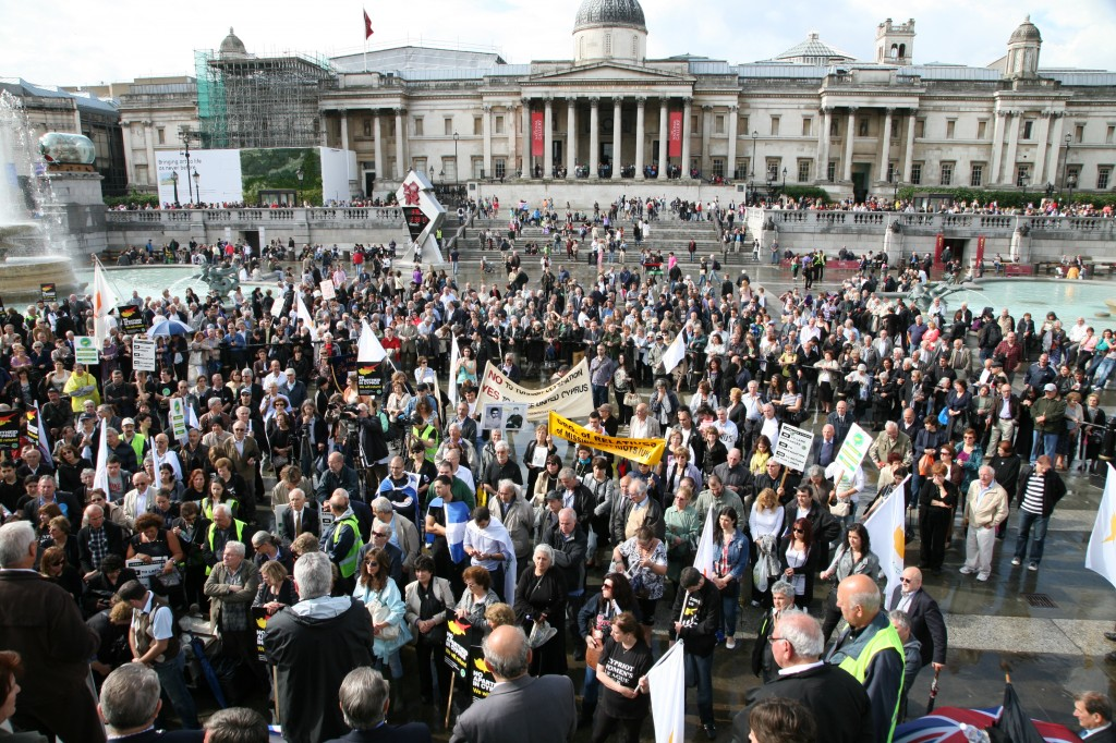 Cypriots to raise their voice in central London against the occupation
