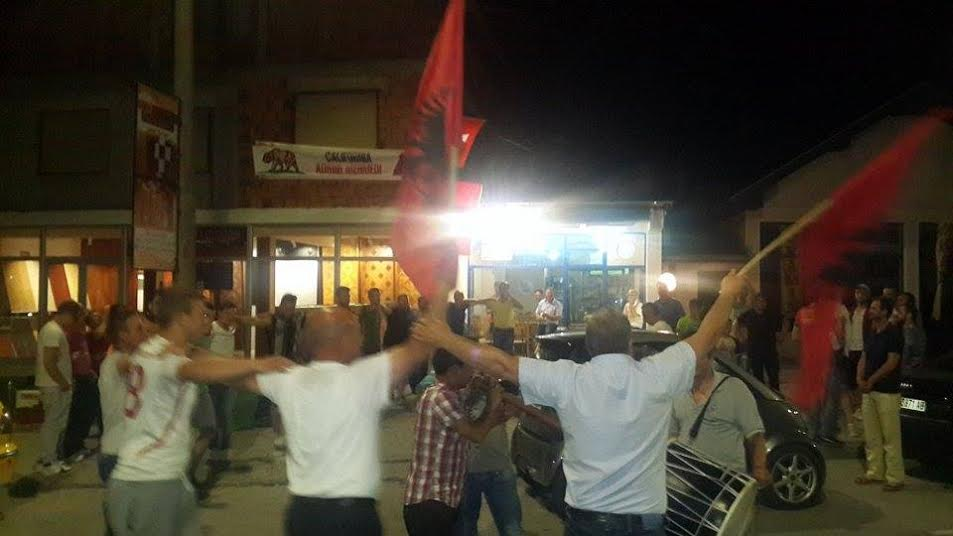 Swiss victory celebrated in Tetovo and Gostivar