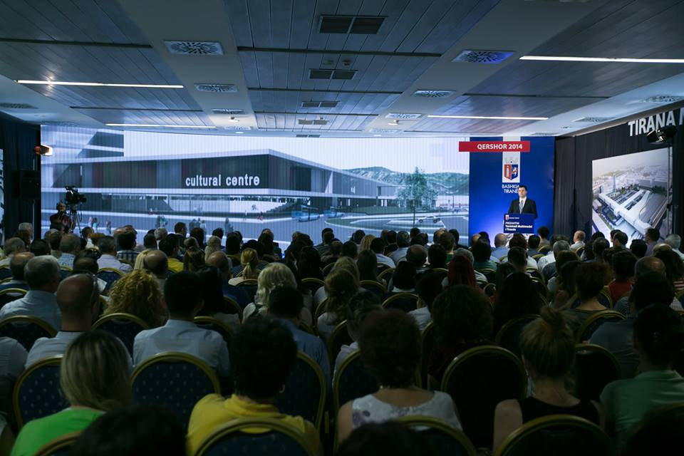 Project of the multi modal passenger terminal presented in Tirana