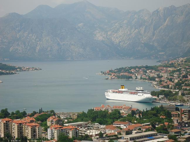 Bay of Boka Kotorska a must go destination for cruise ships on the Mediterranean
