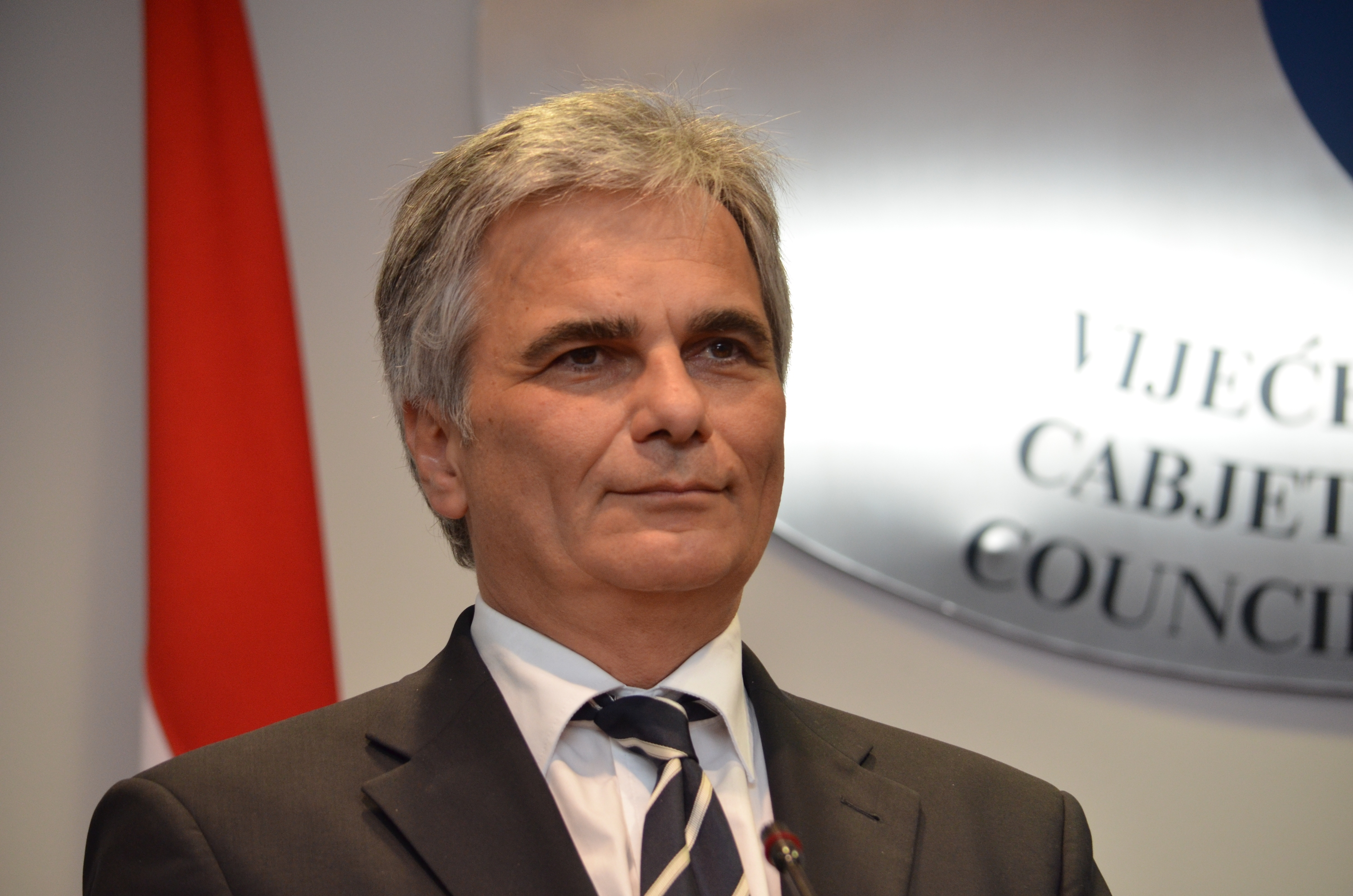 Austrian Chancellor Faymann Visits Sarajevo On The Occasion Of the Centenary and Flood Consequences