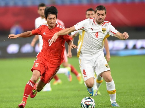 FYROM defeated by China in a friendly football match
