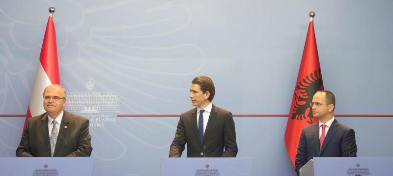Bushati meets  his Austrian counterpart, Austria backs the EU membership candidate status