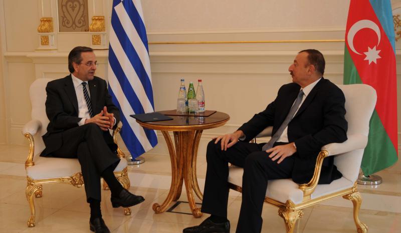 Aliyev & Samaras discuss energy issues in Athens; three Greek-Azeri agreements signed