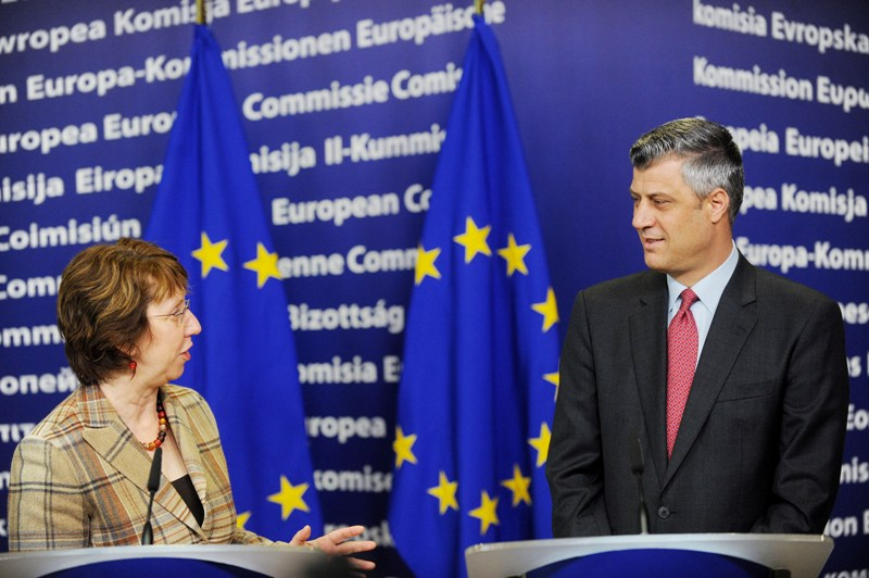 Government cabinet in Kosovo promotes a telephone conversation between Thaci and Ashton