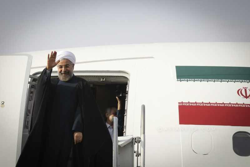 President of Iran on an official visit to Ankara