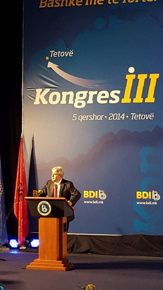 Ali Ahmeti is reelected as head of BDI