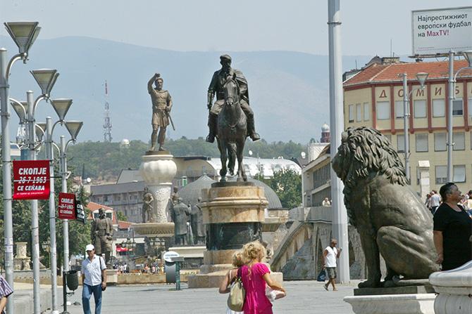 The name dispute dominates political debates in Skopje
