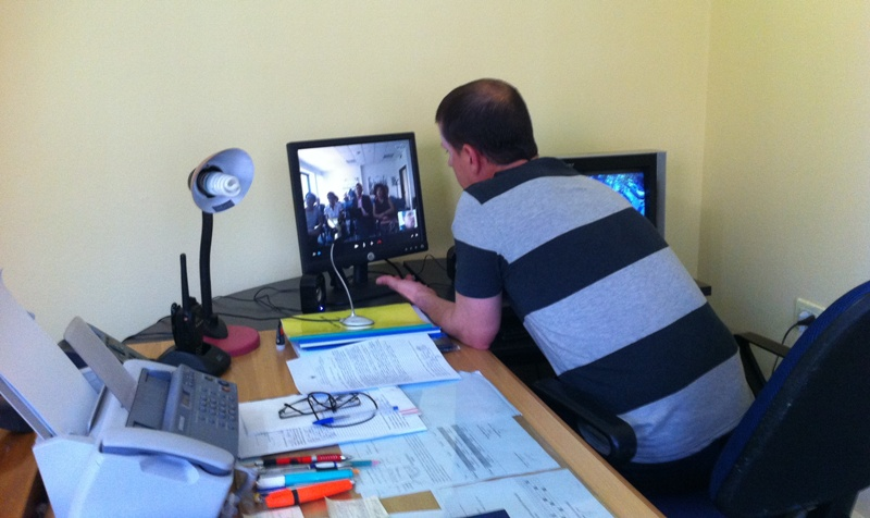A novelty in Albanian prisons, an inmate sits an online exam