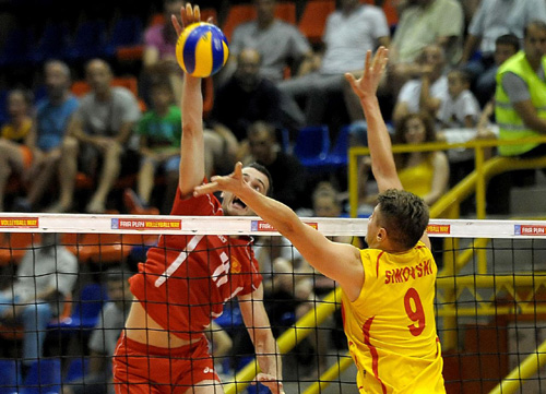 FYROM's national volleyball team concedes a defeat