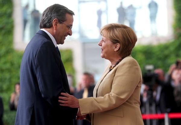 Samaras-Merkel meeting focuses on the debt and taxes