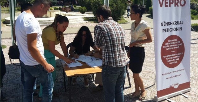 Thousands of citizens sign the petition on abused women