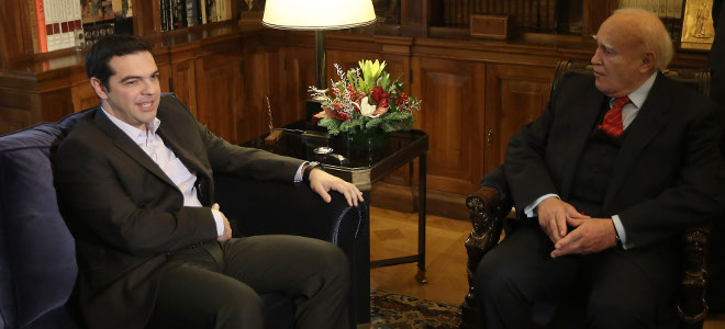 Tsipras to meet with President of the Republic