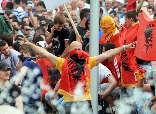 Why are Albanians in FYROM protesting