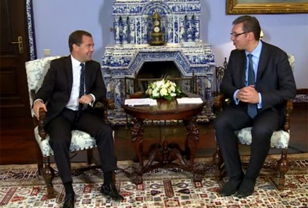 Vucic to Medvedev: Serbia will not harm its relations with Russia