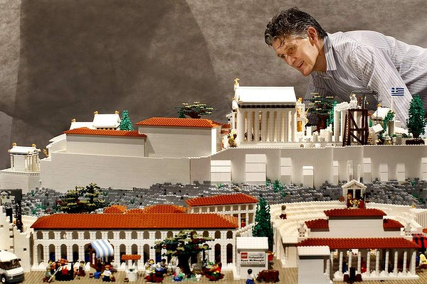 Lego Acropolis arrives in Athens from Australia