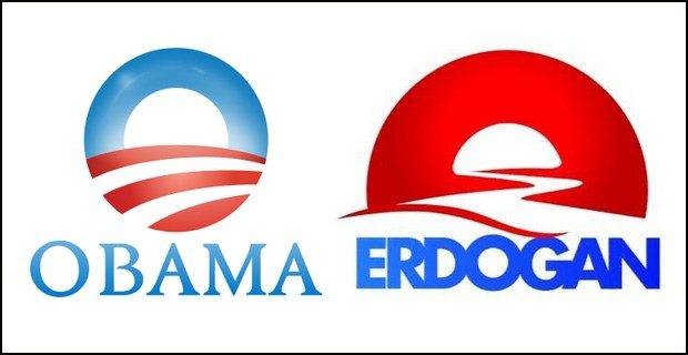 Erdogan for President with an Obama-like logo and a Putin-like governance