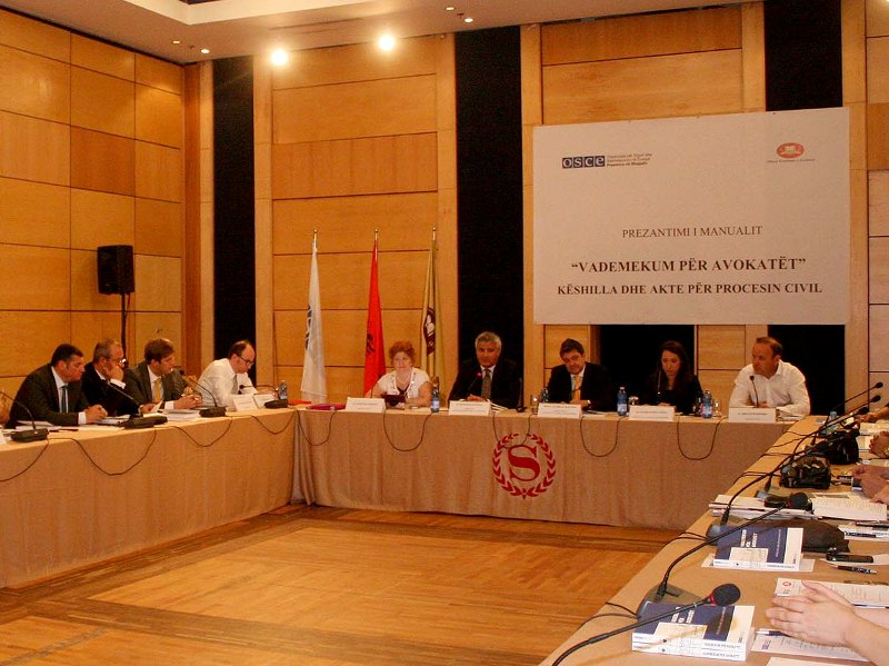 OSCE Presence in Albania publishes guidelines for lawyers in civil proceedings